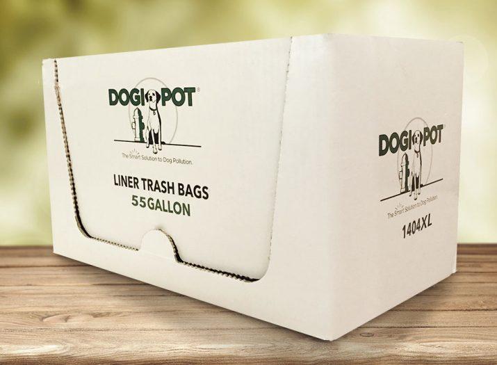 liner trash bags, 55 gallon, xl, smart solution