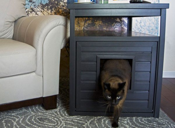 litter box end table - espresso jumbo
