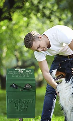 Using a Dog Bag Dispenser